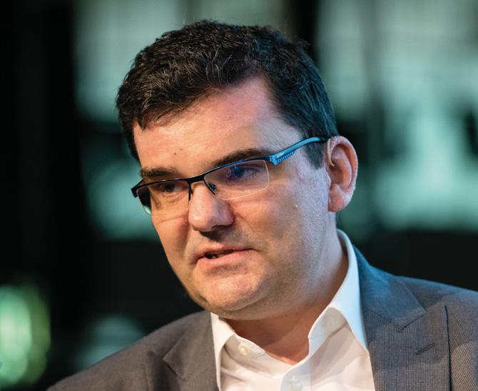 Dr. Stefan-M. Heinemann, Talanx, berücksichtigt für die Steuerung der Kapitalanlagen unter anderem Liquiditätsaspekte, Garantien – und Nietzsche. (Bild: Andreas Schwarz)