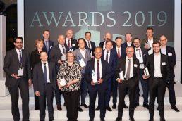 Geschafft: Die glücklichen Gewinner der portfolio institutionell Awards 2019. (Bild: Andreas Schwarz)